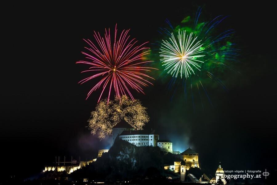 Feuerwerk auf der Festung Kufstein